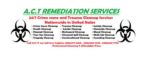 homicide cleanup services in USA. ACT Remediation Services